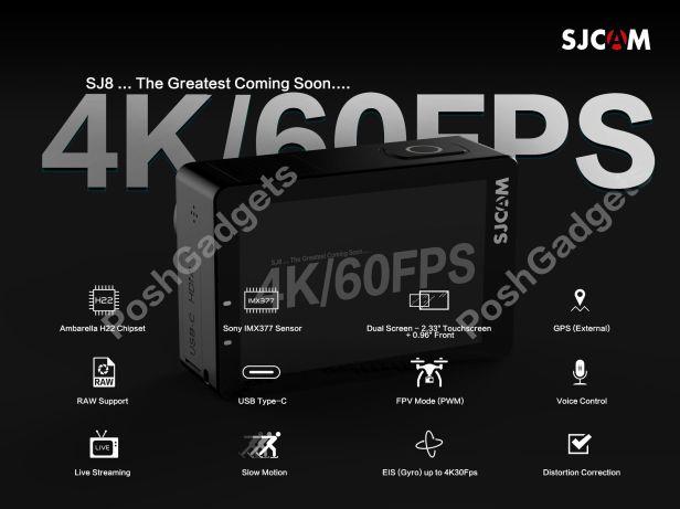 SJCAM SJ8 4K60FPS GPS POSH