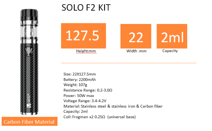 solo f2 specifications