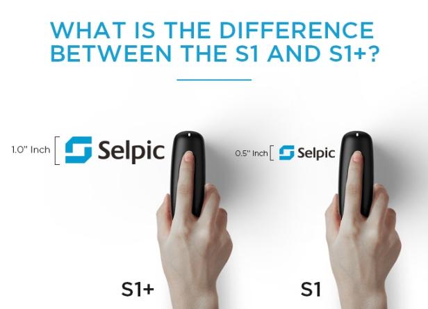selpic S1 vs s1+ handy printer