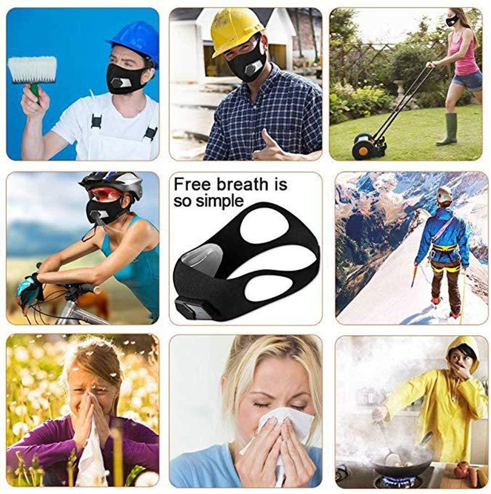 sports training mask airflow HEPA filter fan face mask