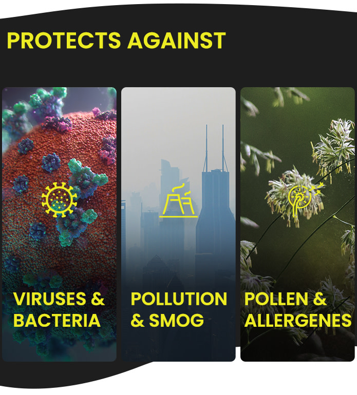 sportsmask protects against pollution